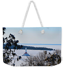 Round Island Passage Light Through The Trees Weekender Tote Bag