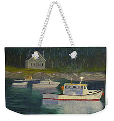 Round Pond Fading Light Weekender Tote Bag