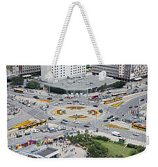 Weekender Tote Bag featuring the photograph Roundabout In Warsaw by Chevy Fleet