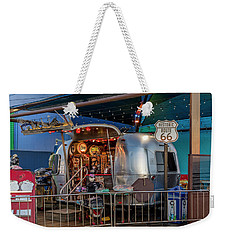Route 66 And Airstream On Tha Pier Weekender Tote Bag