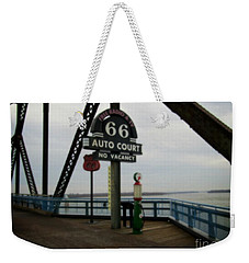 Route 66 Auto Court Weekender Tote Bag