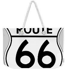 Route 66 Sign Weekender Tote Bag