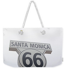 Route 66 Santa Monica- By Linda Woods Weekender Tote Bag by Linda Woods