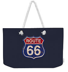 Route 66 Shirt Weekender Tote Bag by WB Johnston