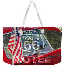 Weekender Tote Bag featuring the photograph Route 66 The American Highway by David Lee Thompson