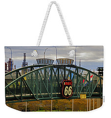 Route 66 Tulsa Sign - Hdr Weekender Tote Bag by Tony Grider