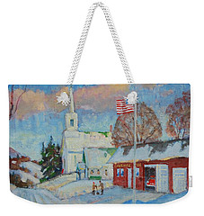 Route 8 North Weekender Tote Bag by Len Stomski