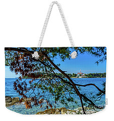 Rovinj Old Town Accross The Adriatic Through The Trees Weekender Tote Bag
