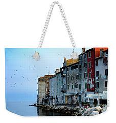 Rovinj Venetian Buildings And Adriatic Sea, Istria, Croatia Weekender Tote Bag