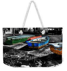 Row Boats At Mudeford Weekender Tote Bag