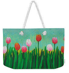 Row Of Tulips Weekender Tote Bag