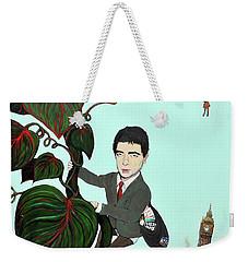 Rowan Atkinson Mr Beanstalk Weekender Tote Bag