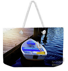 Rowboat At Sunset Weekender Tote Bag