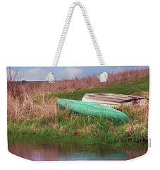 Weekender Tote Bag featuring the photograph Rowboat - Canoe by Nikolyn McDonald