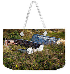 Rowboats In Brigus Weekender Tote Bag by Verena Matthew
