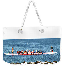 Rowing On The Bay Weekender Tote Bag