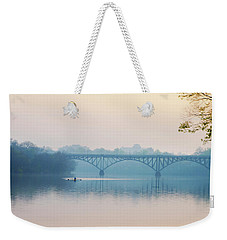 Weekender Tote Bag featuring the photograph Rowing On The Schuykill In The Springtime by Bill Cannon