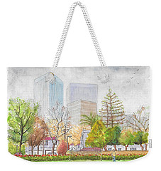 Roxbury Park In Beverly Hills With Century City In The Background, Ca Weekender Tote Bag