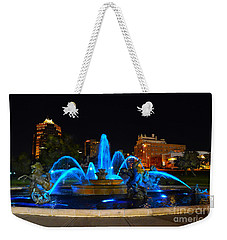 Royal Blue J. C. Nichols Fountain  Weekender Tote Bag