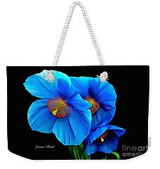 Royal Blue Poppies Weekender Tote Bag by Jeannie Rhode