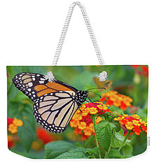 Royal Butterfly Weekender Tote Bag by Shelley Neff