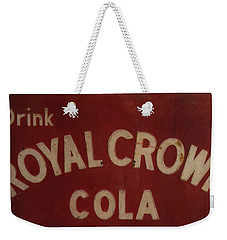 Weekender Tote Bag featuring the photograph Royal Crown Cola Sign by Chris Flees