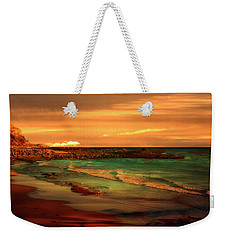 Royal Palms Beach At White Point Weekender Tote Bag