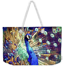 Royal Peacock Weekender Tote Bag