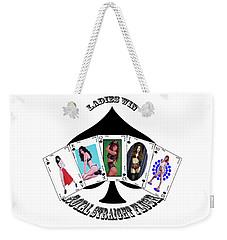 Royal Straight Flush Spades 2 Weekender Tote Bag