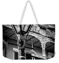 Royal Street Lamp In Black And White Weekender Tote Bag