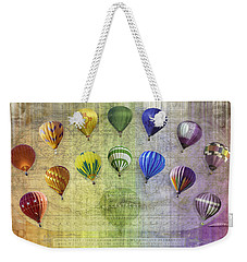 Weekender Tote Bag featuring the digital art Roygbiv Balloons by Melinda Ledsome