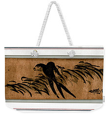 Weekender Tote Bag featuring the painting Roys Collection 3 by John Jr Gholson