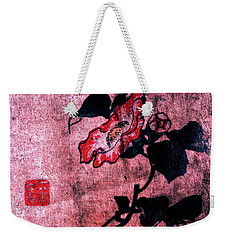 Weekender Tote Bag featuring the painting Roys Collection 4 by John Jr Gholson
