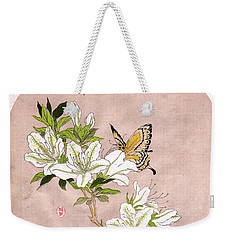Weekender Tote Bag featuring the painting Roys Collection 5 by John Jr Gholson