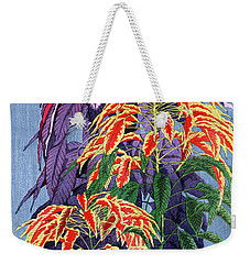 Weekender Tote Bag featuring the painting Roys Collection 6 by John Jr Gholson