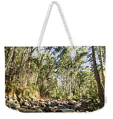 Weekender Tote Bag featuring the photograph Rubicon River by Linda Lees