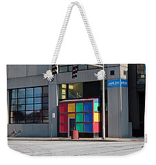 Rubik Shelter Weekender Tote Bag by Michiale Schneider