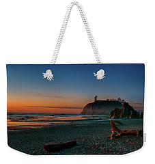Weekender Tote Bag featuring the photograph Ruby Beach Sunset by Mary Jo Allen