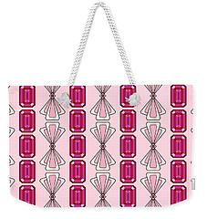 Ruby  Deco Stripe Weekender Tote Bag by MM Anderson