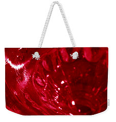 Ruby Glass Beauty Weekender Tote Bag by Samantha Thome