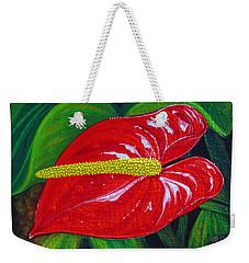 Ruby Holiday Weekender Tote Bag