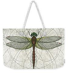 Ruby Meadowhawk Dragonfly Weekender Tote Bag