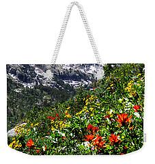 Ruby Mountain Wildflowers - Vertical Weekender Tote Bag