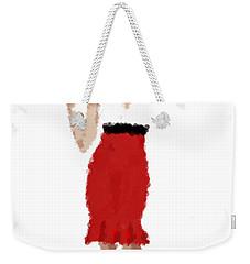 Weekender Tote Bag featuring the digital art Ruby by Nancy Levan
