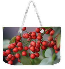 Ruby Red Berries Weekender Tote Bag