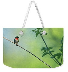 Ruby Red Perch Weekender Tote Bag