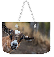 Ruby The Goat Weekender Tote Bag by Everet Regal