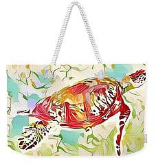 Ruby The Turtle Weekender Tote Bag by Erika Swartzkopf