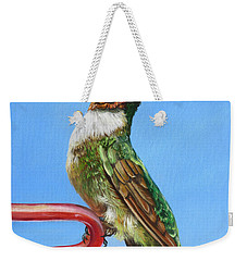 Ruby Throat Hummingbird  Weekender Tote Bag by Phyllis Beiser