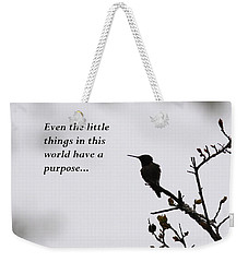 Ruby-throated Hummingbird - Little Things Weekender Tote Bag